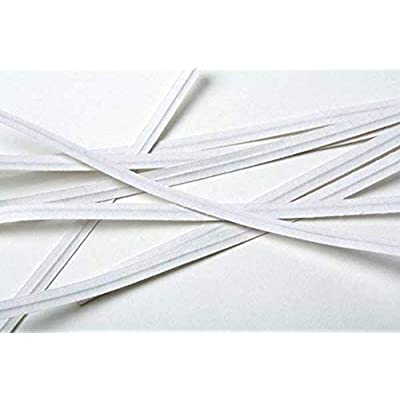 """2000 Twist Ties 4"""" Length Plastic Coated Paper No Rip Cellophane Assorted Colors (White) : Garden & Outdoor"""