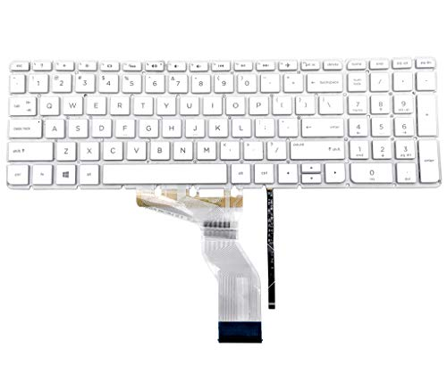 Genuine HP Pavilion 17-AB English White Laptop Keyboard SN6143BL7 SG-84750-XUA ()