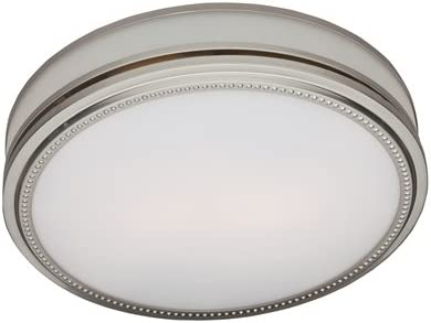 Hunter 83001 Ventilation Riazzi Bathroom Exhaust Fan with Light, Brushed Nickel Bathroom Vent Fan or Exhaust Fan