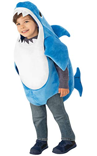 Baby In Cow Costume (Rubie's Kids' Toddler Daddy Shark Costume With Sound Chip, As Shown,)
