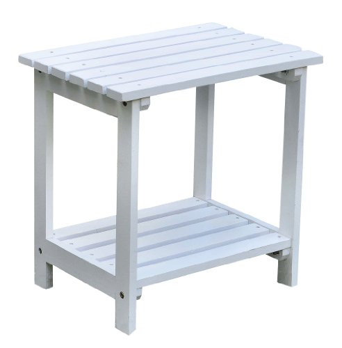 Perfect Amazon.com : Shine Company Rectangular Side Table, White : Patio Side Tables  : Patio, Lawn U0026 Garden