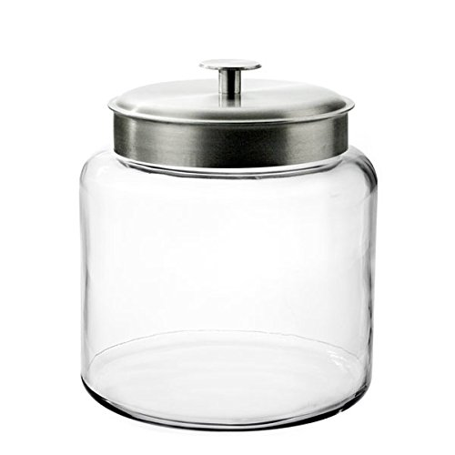 Anchor Hocking 1.5-Gallon Montana Jar with Brushed Metal Lid