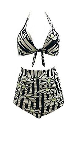 HarrowandSmith British Fashion Shop Frauen Sunflower Muster Urlaub Bademoden Bikini Sommer