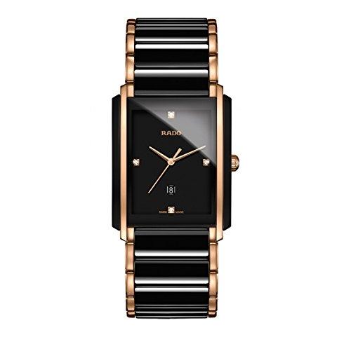 Rado Integral Jubile Two-tone Black Ceramic and Rose Gold Mens Watch - R20207712 (Jubile Integral Rado)