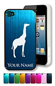 Engraved Aluminum iPhone 4/4S Case/Cover - GIRAFFE / AFRICAN ANIMAL - Personalized for FREE (Click the CONTACT SELLER button after purchase and send a message with your case color and engraving request)