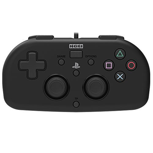 (Hori SONY Licensed Wired Controller Light Small Black for PS4)