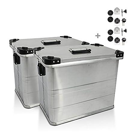 Maletas Laterales Aluminio Gobi 45l con Kit de Montaje para portamaletas de 18mm para Kawasaki Ninja 650, Versys 1000/650: Amazon.es: Coche y moto