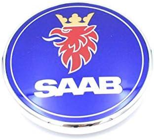 2X Car Front Bonnet Emblem Hood Rear Boot Badge  2 pin For SAAB 9-3 93 9-2