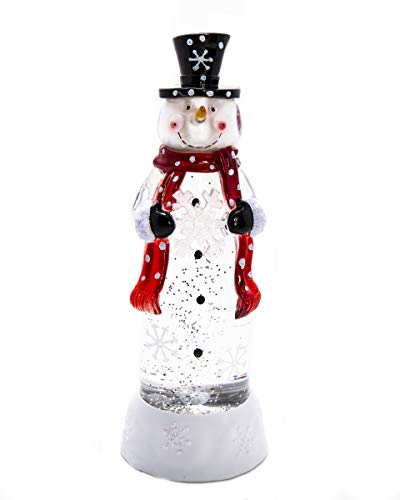 ReLive Acrylic Snowman with Colored Lights and Snow Glitter - 11