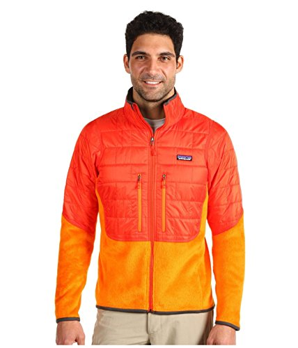 Patagonia Orange Red Nano Puff Hybrid PrimaLoft Pack Light Polartec Jacket (XL)
