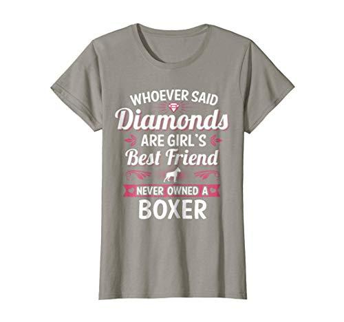 Best Friend Boxer - Womens Girl's Best Friend is a Boxer Dog Puppy Pet Animal Rescue XL Slate