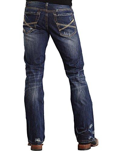 Stetson Men's Rock Fit X Stitched Jeans Dark Stone 42W x 34L