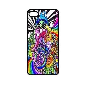 ZXSPACE Colorful Mushroom Pattern Design Plastic Hard Case for iPhone 6 Plus