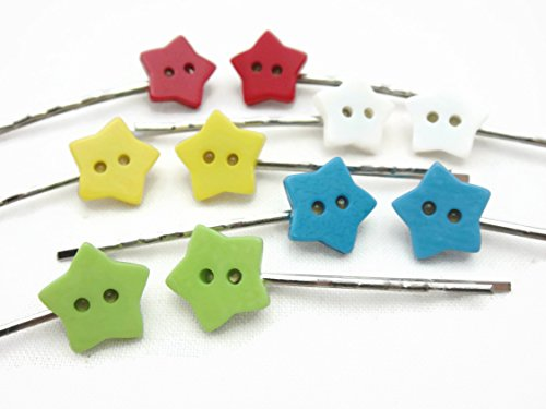 Hair Clip Bobby Pin Girl Children Accessories Button Star