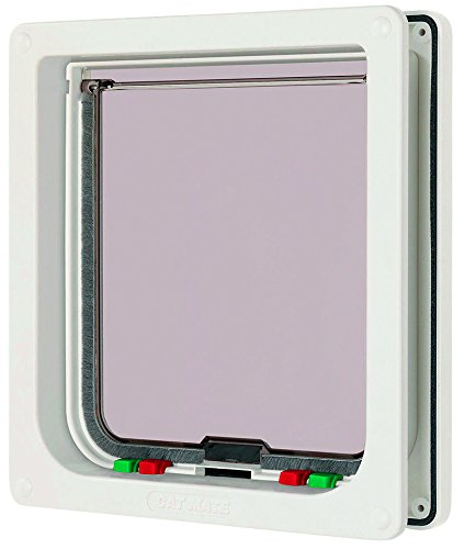 Cat Electromagnetic Door - Cat Mate Large Cat Door White