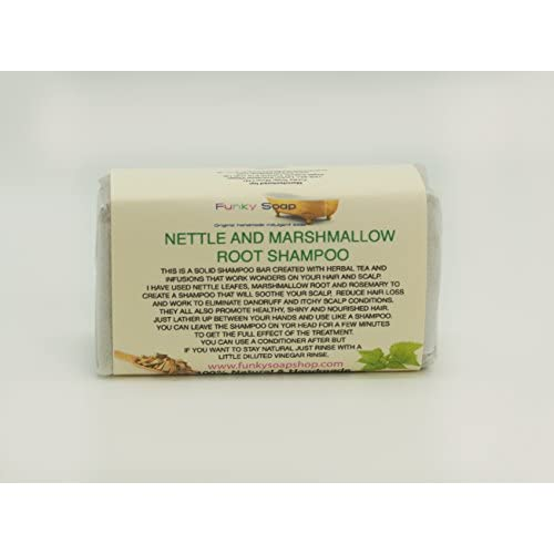 1 pièce Ortie & Marshmallow Racine Barre De Shampooing 100% Naturel Artisanal aprox.65g