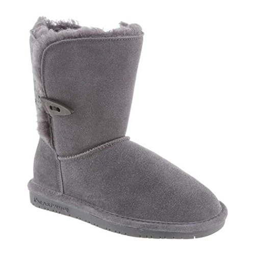 BEARPAW Girl's Abigail Youth Shearling Boots (3, Charcoal) (Kal Charcoal)