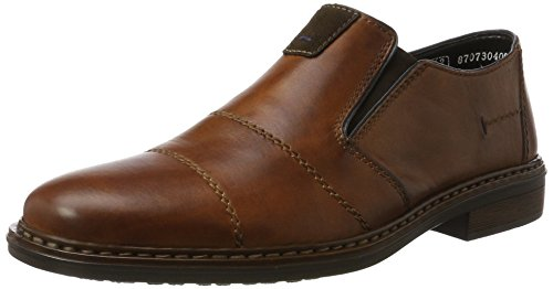 Rieker Men's 17661 Loafers Brown (Amaretto/Moro/Navy) FoRxGGEQ
