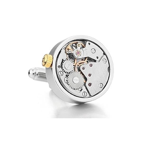 Real-Working-Watch-Movements-Cufflinks-Functioning-Steampunk-Cuff-links-with-Velvet-Gift-Box