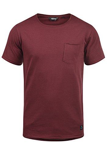 Algodón Camiseta Red Redondo 100 0985 T shirt Para Andrej De Básica Con Cuello Wine Hombre Manga solid Corta q65aOn