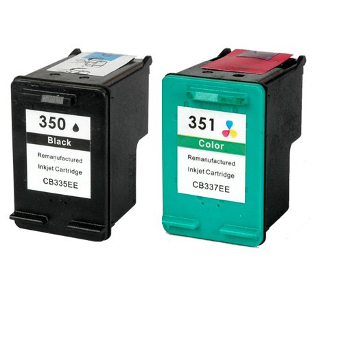 Cartucho de tinta Remanufactured como un sustituto de HP 350 HP 351 (1x Negro, 1x Color, 2er-Pack)