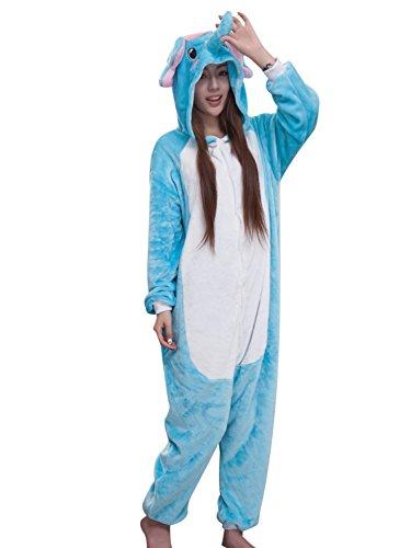 SanJL Unisex Adult Pajama Onesies One Piece Halloween Costumes Christmas Gift (S(Height:150~159cm), -
