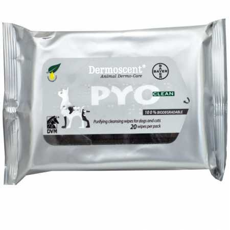 Dermoscent Pyoclean Wipes for Dogs Cats (20 Count)