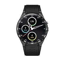 KW88 Bluetooth Smart Watch SANNYSIS Android 5.1 Quad Core 4GB GPS WIFI For IOS (Black)