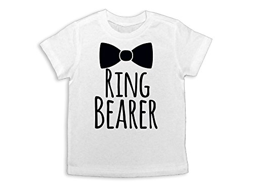 Ring Bearer Shirt Ring Bearer Gift Ring Bearer Tee (White, Youth XS 5)