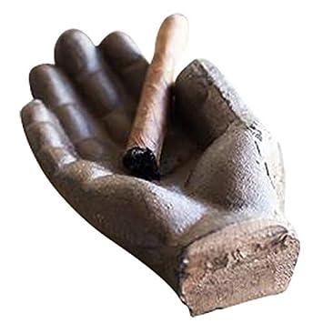 cenicero del cigarrillo Cenicero antiguo de la mano del arrabio uso como cenicero al aire libre en patio o dentro regalo fresco de los fumadores Cenicero del cigarro de Comfify cenicero decorativo