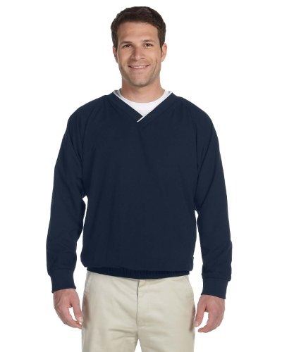HA MICROFIBER WINDSHIRT (NAVY/ WHITE) (L)