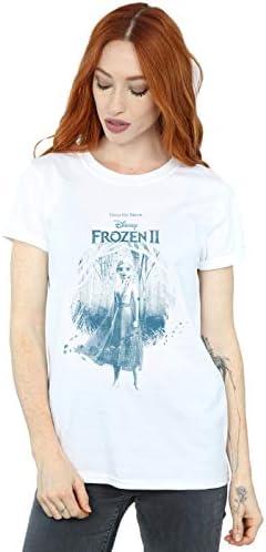 Disney damski Frozen 2 ELSA Find The Way Boyfriend Fit T-Shirt, kolor: biały , rozmiar: l: Odzież