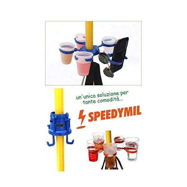 Speedymil Porta Bicchieri e Porta Borse per ombrelloni (Verde) 1 spesavip
