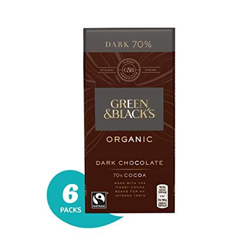 (Green & Black's Organic 70% Dark Chocolate Candy Bars, 3.5 Ounce (Pack of 6))