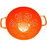 Culinary Elements Mini Colander with Handle, Orange, 1-Pack
