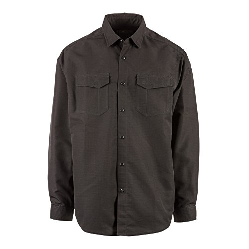 5.11 Camisa de manga larga Tactical Fast-Tac, negra, grande