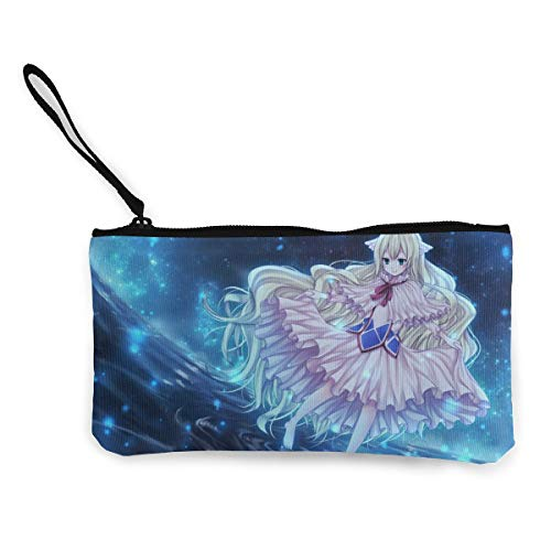 William D Oliver Fairy Tail-Mavis Vermilion Cool Canvas Coin Purse Zipper Anime Style Customs Wallet Bags ()