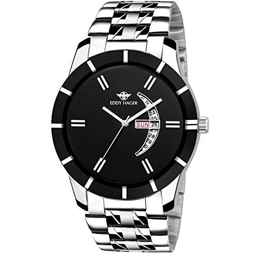 Eddy Hager Black Day and Date Men's Watch EH-250-BK
