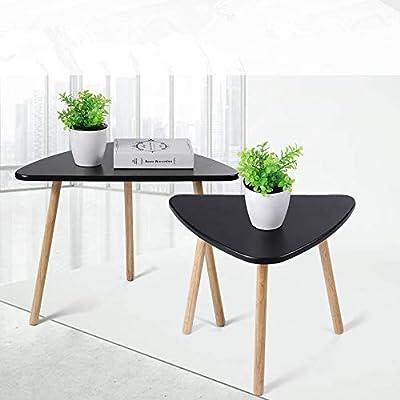 Juego de 2 mesas nido de café, mesas auxiliares de mesa, mesa ...