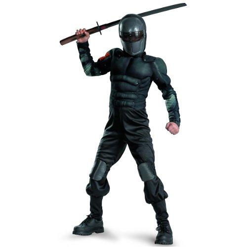 G.i. Joe Retaliation Snake Eyes Classic Muscle Costume, Black, -