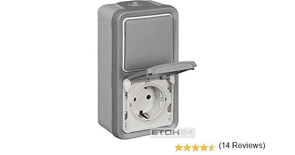 Legrand 69746 Plexo55 Enchufe e interruptor IP55, posici/ón vertical
