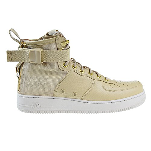 Wmns Force Uomo Scarpe Mushroom 917753 Air Tessuto Bone Mushroom Light e in 1 101 Nike Mid SF Pelle Bianco xXEF5n
