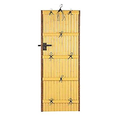 タカショー エバーバンブー 庭扉シリーズ AL-27 アルエバーウォール(押え付) 両面 W700×H1500 右吊り元 真竹 『柱は別売りです』 真竹 B077N3FSYC