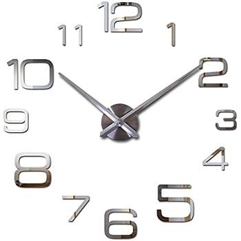 Suatimn Wall Clock DIY Reloj De Pared Modern Design Horloge Murale Large Decorative Clocks Quartz Watch Living Room Brief Blue