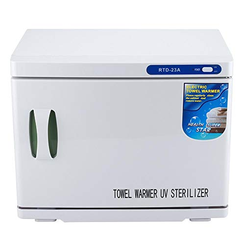 23L UV Sterilizer Cabinet, Professional Tabletop Ultraviolet Towel Sterilization Machine for Salon Spa, Facial Skin Beauty Care Nail Art Tool Equipment(White)