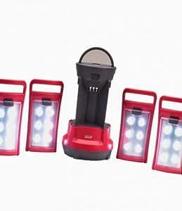 Amazon Com Coleman Quad Tm Led Lantern 1 Red Sports