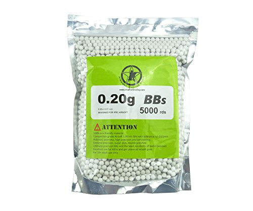 Aols Airsoft Bbs 6Mm 0 20G 5000Rds White