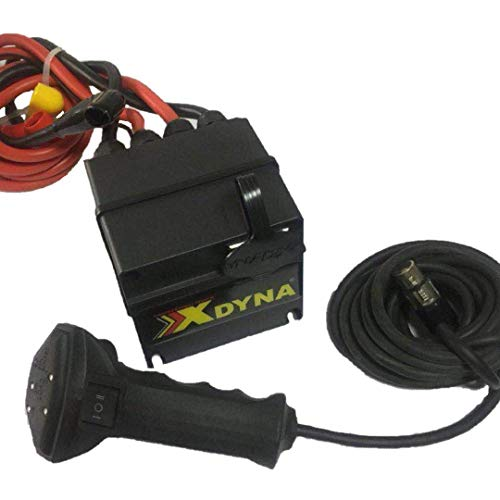 - XDYNA Intelligent Winch Waterproof Control Box-12V/500A, Handlebar Switch, Showing Load,30%,60%,80%, Red Warning, Can Be Used for All Wound Series Motor Winch