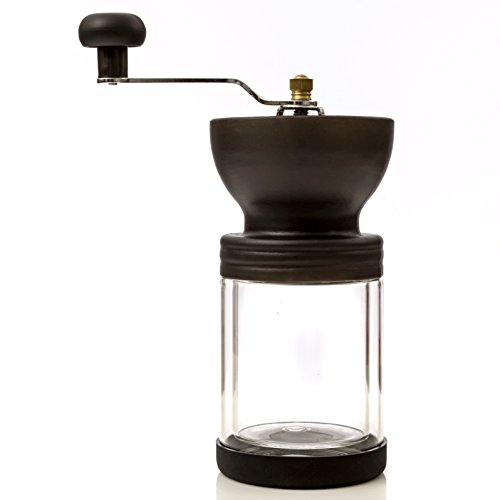 Manual Burr Coffee Grinder for Bean, Spices and Salt Conical Mill for Espresso, French Press by ()