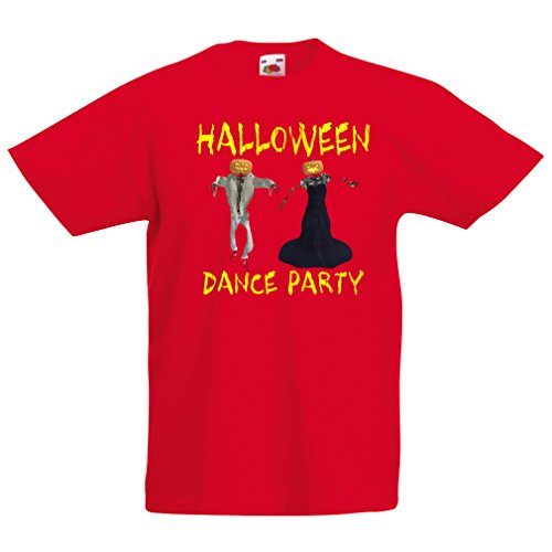 T Shirts for Kids Cool Outfits Halloween Dance Party Events Costume Ideas (3-4 Years Red Multi Color) -